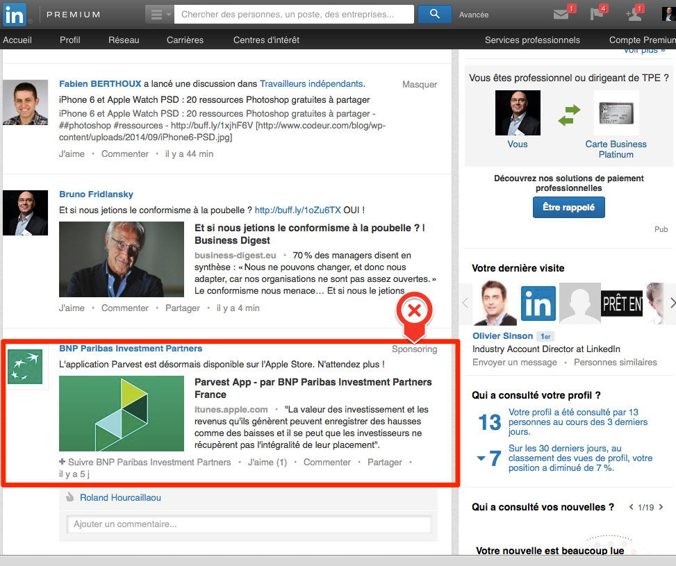article sponsorise linkedin