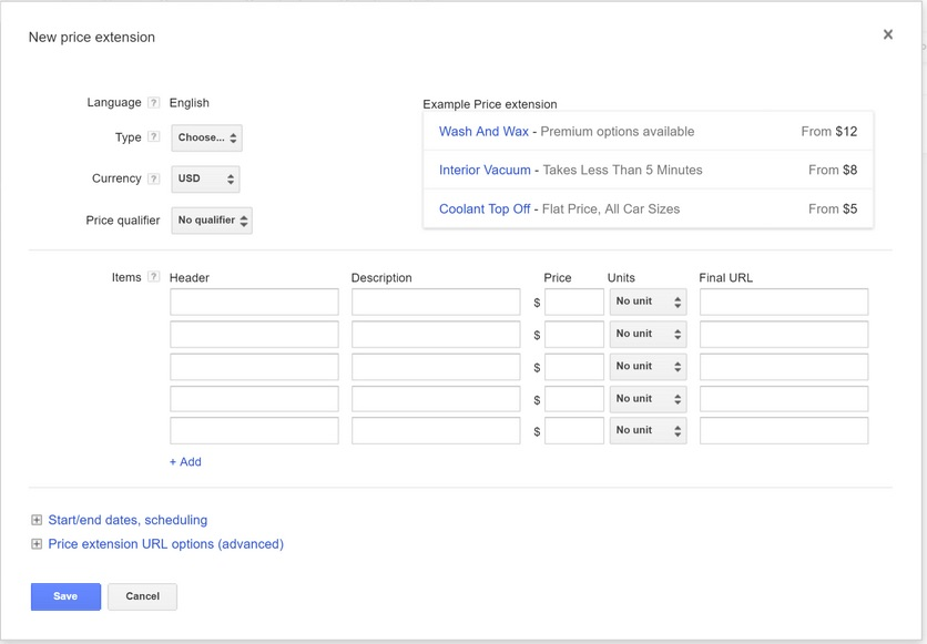 extension prix google adwords