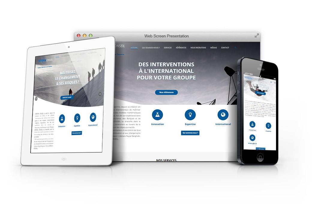 presentation site internet berexia