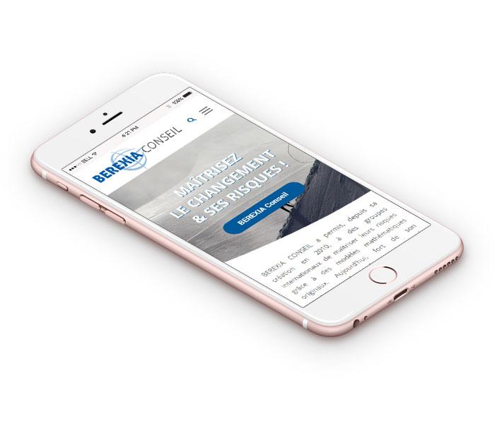 site responsive mobile berexia