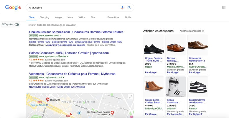 campagne sea adwords
