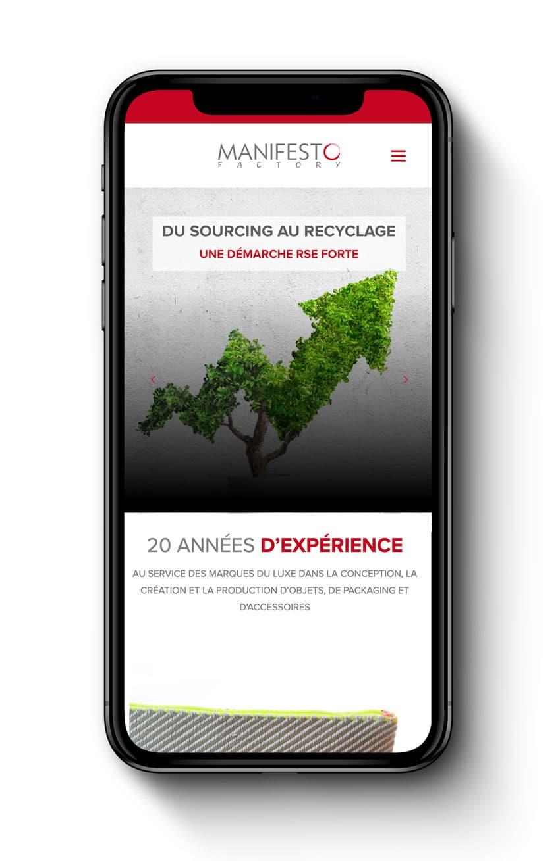manifesto site mobile