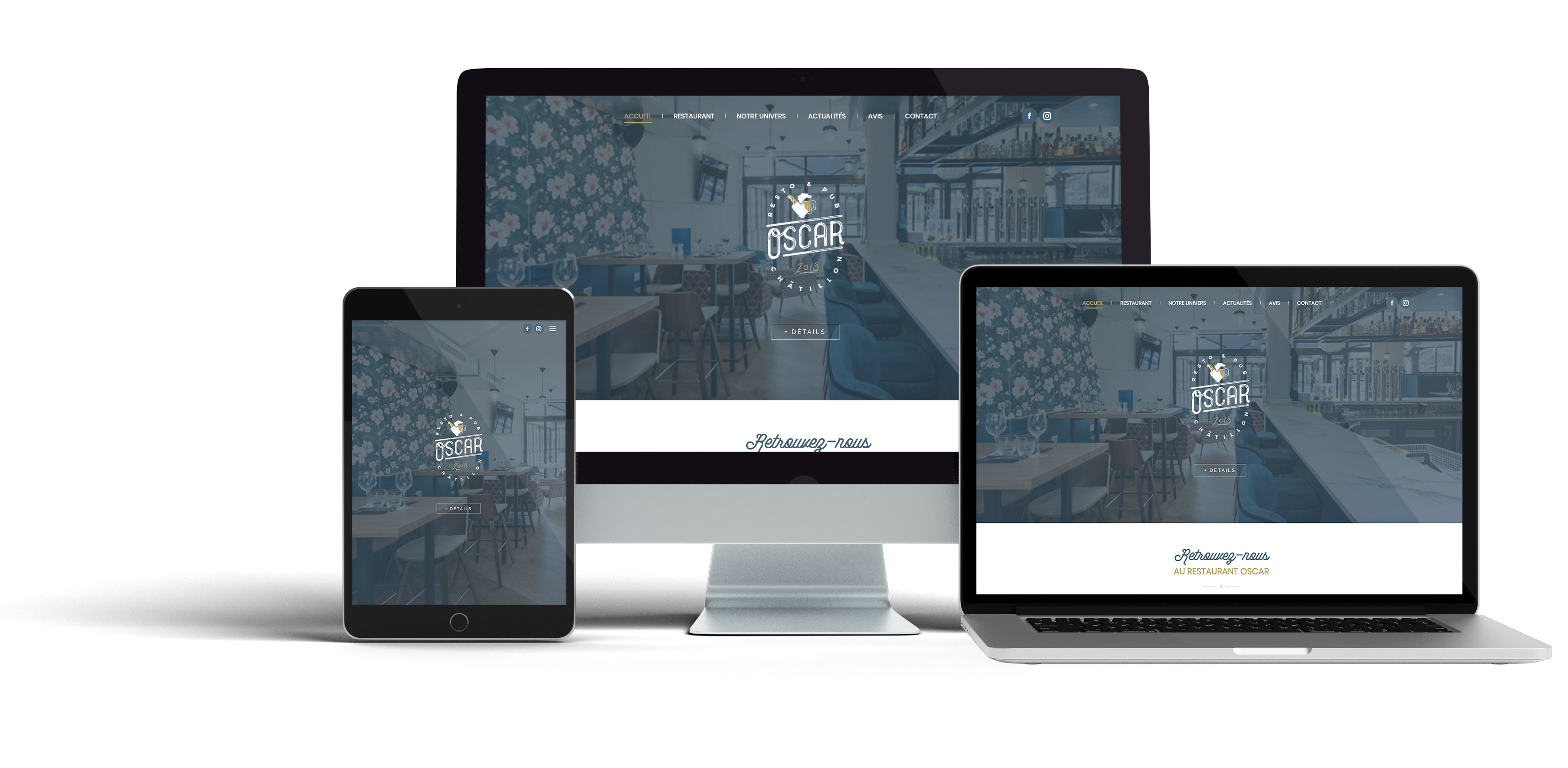 Oscar Responsive site web